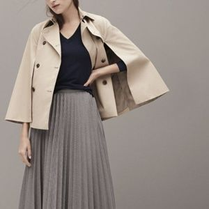 Banana republic cape trench water resistent coat